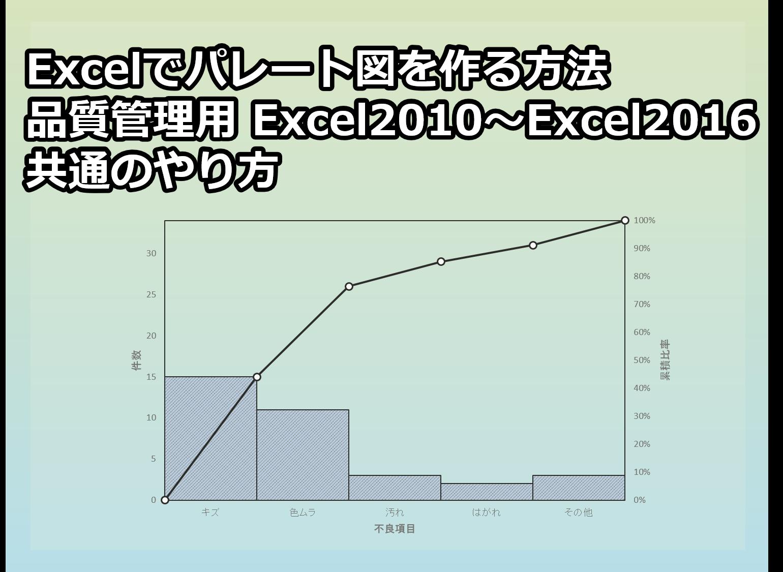 Excelパレート図