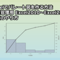 Excelでパレート図を作る方法(品質管理用 Excel2010~Excel2016共通のやり方)